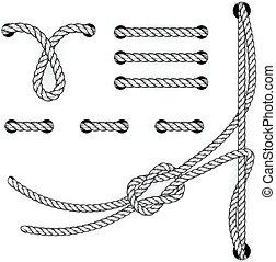 -, stitchs, corda, suturando, file, cicli, documento, ...