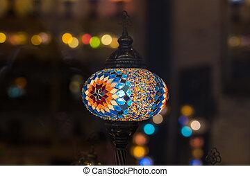 orientalische lampen farbig