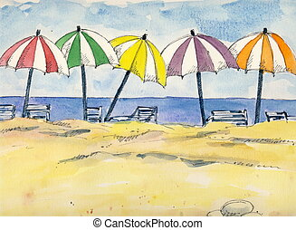 beach umbrella illustrations and clipart. 14,771 beach umbrella