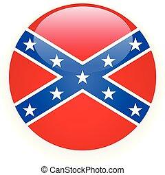 -, symbole, csa, drapeau, rebelle, confédéré, icône