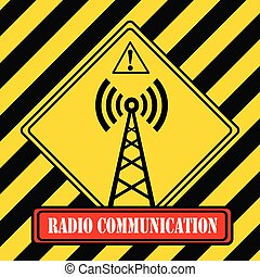 -, symbole, industriel, radio, communication