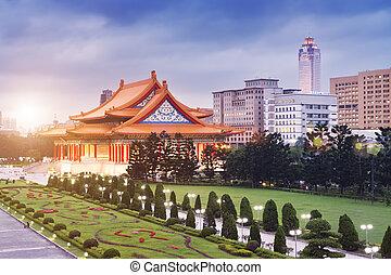 -, taiwan, koncert, národnostní, taipei, jídelna