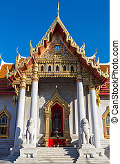 -, tempio, bangkok, famoso, tailandia, marmo