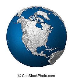 -, terra, américa, norte, artificial