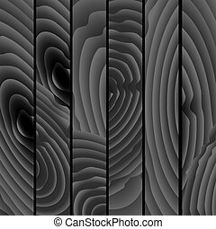-, texture., 背景, 黒, ベクトル, 木