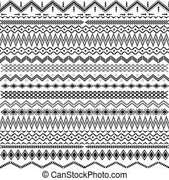 &, -, texture, géométrique, noir, ornements, blanc
