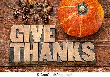 -, thanksgiving, concept, donner, remerciement