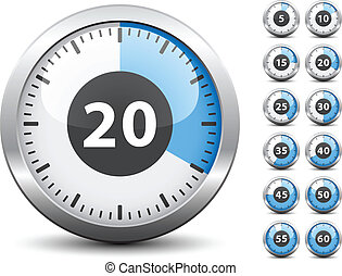 -, timer, uno, vettore, ogni, cambiamento, facile, tempo, ...