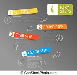 -, três, dois, quatro, passos, 4, fácil, um, t