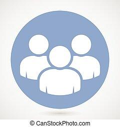 -, trabalho equipe, grupo, ícone, pessoas