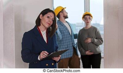 -, traite, vrai, regarder, agent, signer, appartement,...