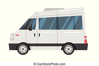 -, transport, ville, minibus.