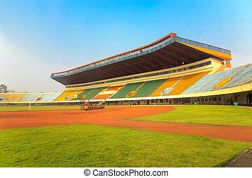 -, tribunes, estadio, campo