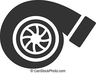 -, turbo, cargador, bw, iconos