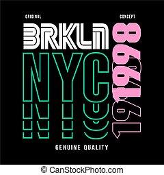 -, typographie, brooklyn