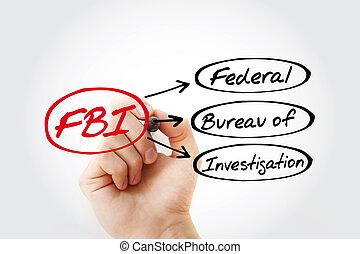 -, untersuchung, akronym, fbi, büro, föderativ
