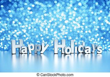 -, vacaciones, plano de fondo, resplandor, navidad, feliz