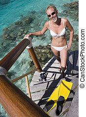 -, vacanza, pacifico, polynesia, tropicale, francese, sud