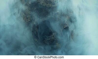 -, vaudou, fumée, autour de, magie, tourbillonner, crâne, ...