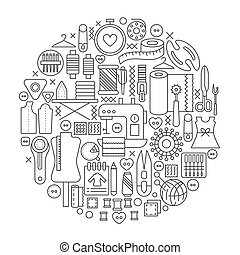 -, vecteur, découpage, contour, concept, badge., cercle, ...