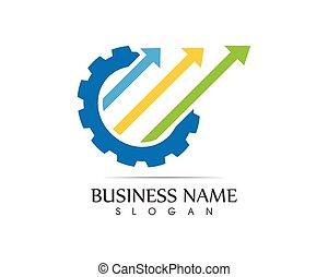 -, vecteur, finance, affaires illustration, logo, concept