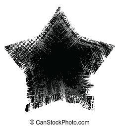 -, vecteur, grunge, étoile, illustration