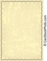 -, vecteur, grungy, carte, vieux, cadre, décoratif