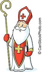 -, vecteur, isolé, fond blanc, nicolas, saint, illustration