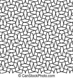 -, vecteur, lignes, modèle, fond, géométrique, blanc, simple