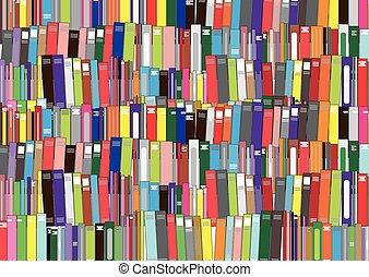 -, vecteur, livres, illustration