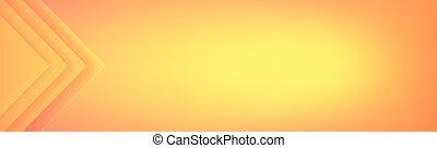 -, vecteur, panoramique, orange, triangles, fond, jaune