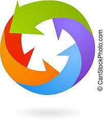 -, vecteur, résumé, élément, conception, illustration