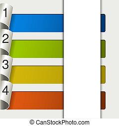 -, vector, 10, opciones, tela, plantilla, eps, banderas, 4, ...