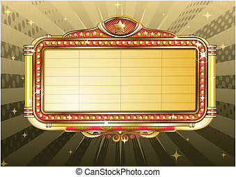 Theater Sign Vector Clip Art EPS Images 28192 Clipart