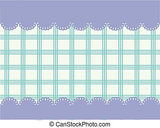-, vector, tartan, ruimte vensterraam, tekst, blauwe , kanten
