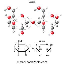 Molécula De Azúcar De Leche Lactosa Molécula De Azúcar De