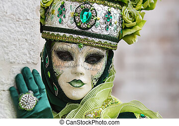 -, venetiaan, venetie, carneval, masker, kostuum