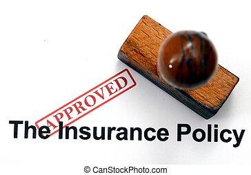 -, versicherung, form, genehmigt