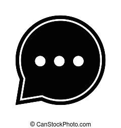 -, vettore, iconic, bolla, icona, discorso, chiacchierata, disegno