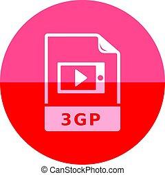 -, video, pictogram, bestand, cirkel