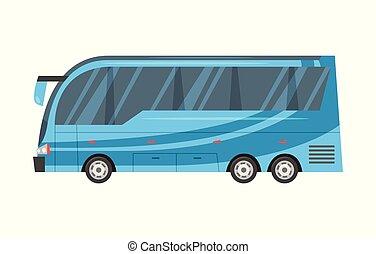 -, ville, transport, bleu, bus.