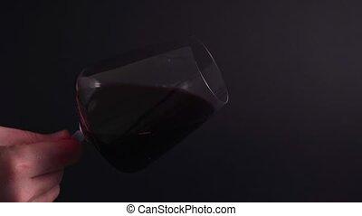 -, vin, fluidité, verre., dégustation, chèque, couleur, ...
