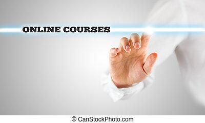-, virtuel, cours, mots, ligne, interface