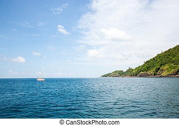 -, vista, isla, phuket., phi, krabi, isla, recursos, ...