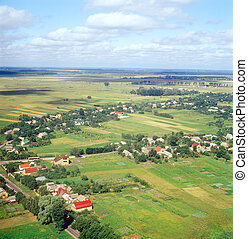 -, vista., ukrainian, aéreo, vila