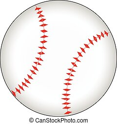 -white, basebol, isolado, fundo