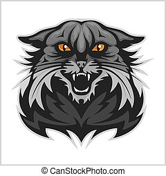 -, wildcat, team., sport, maskottchen
