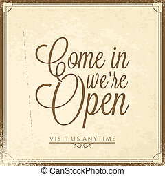 -, wir, beschriftung, rgeöffnete, calligraphic