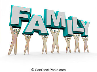 -, wort, familie, heben