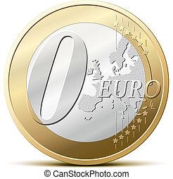 0, コイン, ユーロ